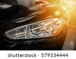 closeup on an headlight of a...   Shutterstock . vector #579334444