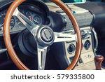 Closeup On A Wheel Of A Vintag...