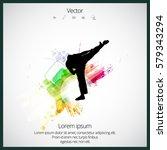 karate kick | Shutterstock .eps vector #579343294