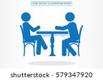 people at the table  interior... | Shutterstock .eps vector #579347920