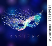 mystery celebrating vector mask.... | Shutterstock .eps vector #579349594