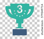 third prize cup icon. vector... | Shutterstock .eps vector #579349714