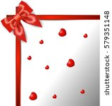 gift card with ribbon and bow | Shutterstock .eps vector #579351148