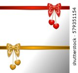 gift card with ribbon and bow | Shutterstock .eps vector #579351154