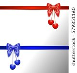 gift card with ribbon and bow | Shutterstock .eps vector #579351160