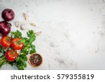 spices  black pepper  garlic ... | Shutterstock . vector #579355819
