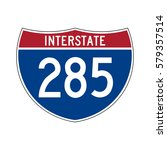 interstate highway 285 road... | Shutterstock .eps vector #579357514
