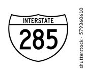interstate highway 285 road... | Shutterstock .eps vector #579360610