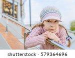 little beautiful smiling girl... | Shutterstock . vector #579364696