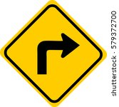 turn right sign | Shutterstock .eps vector #579372700