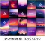 big set of 20 square blurred... | Shutterstock .eps vector #579372790