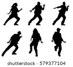 vector illustration of a six... | Shutterstock .eps vector #579377104