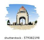 mexico. revolution monument.... | Shutterstock .eps vector #579382198