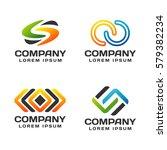 business logo set. business... | Shutterstock .eps vector #579382234