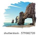 mexico. cabo san lucas. el arco.... | Shutterstock .eps vector #579382720