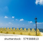 traditional kandyan cloud wall... | Shutterstock . vector #579388813