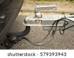 trailer coupling with trailer... | Shutterstock . vector #579393943