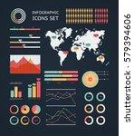 world map infographic. vector... | Shutterstock .eps vector #579394606