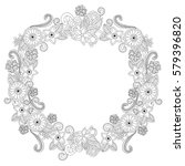 floral hand drawn vertical... | Shutterstock .eps vector #579396820