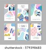set of creative universal art... | Shutterstock .eps vector #579398683