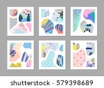 set of creative universal art... | Shutterstock .eps vector #579398689