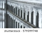 icy fence | Shutterstock . vector #579399748