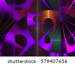 abstract fractal background... | Shutterstock . vector #579407656