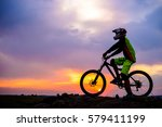 professional down hill cyclist... | Shutterstock . vector #579411199