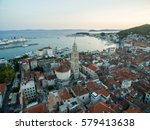 Aerial Photo Of Split  Croatia.