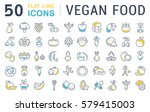 set  line icons in flat design... | Shutterstock . vector #579415003