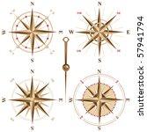 4 vintage compasses | Shutterstock .eps vector #57941794
