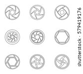 kind of aperture icons set.... | Shutterstock . vector #579419176
