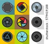 kind of aperture icons set.... | Shutterstock . vector #579419188