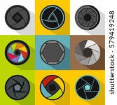 types of aperture icons set.... | Shutterstock . vector #579419248