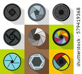aperture of photocamera icons... | Shutterstock . vector #579419368