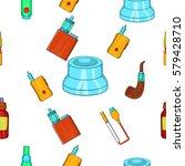 electronic cigarette pattern.... | Shutterstock . vector #579428710