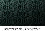 half seamless geometric pattern.... | Shutterstock .eps vector #579439924