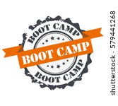 boot camp stamp.sign seal.logo