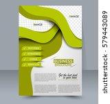 abstract flyer design... | Shutterstock .eps vector #579443089