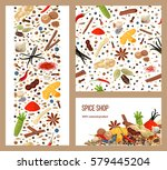 realistic popular culinary... | Shutterstock .eps vector #579445204
