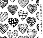 beautiful monochrome  black and ... | Shutterstock .eps vector #579445720