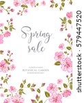 cherry blossom sale card.... | Shutterstock .eps vector #579447520