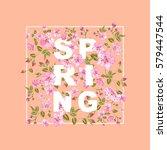 spring sale concept. elegant... | Shutterstock .eps vector #579447544