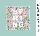 spring sale concept. elegant... | Shutterstock .eps vector #579447550