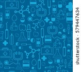 medicine health care seamless... | Shutterstock .eps vector #579447634