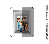 elevator with people inside... | Shutterstock .eps vector #579453028