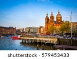traditional old buildings and... | Shutterstock . vector #579453433