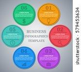 infographics frames.... | Shutterstock .eps vector #579453634