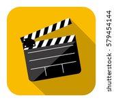symbol short film icon image ... | Shutterstock .eps vector #579454144