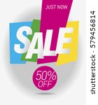 sale shining banner. vector... | Shutterstock .eps vector #579456814